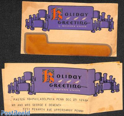 Holiday greeting telegram
