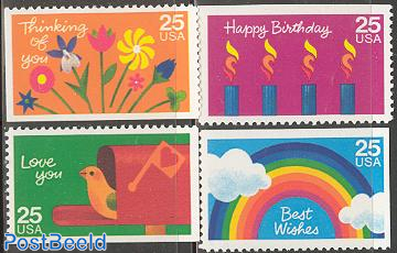 Greeting stamps 4v