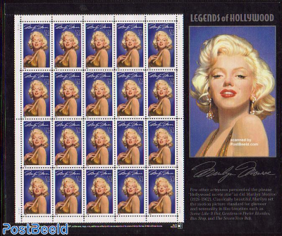 Marilyn Monroe minisheet