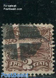 2c Brown, used