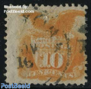 10c, used, Stamp out of set