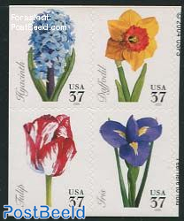 Flowers 4v from booklet single sided