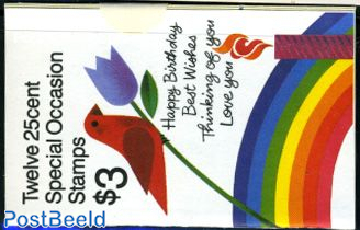 Greeting stamps booklet (with 3 sets)
