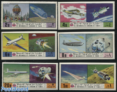 Aviation & space exploration 6v, imperforated