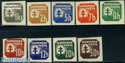 Newspaper stamps 9v without WM