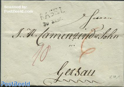 Folding letter from Basel to Gersau